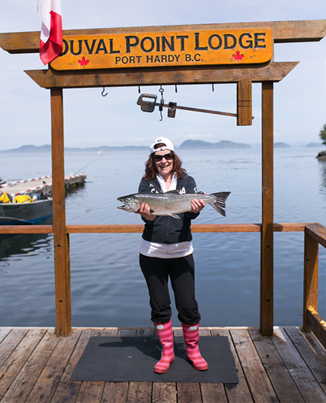 salmon fishing at Duval Point Lodge