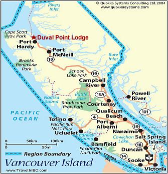 Salmon River Vancouver Island Map